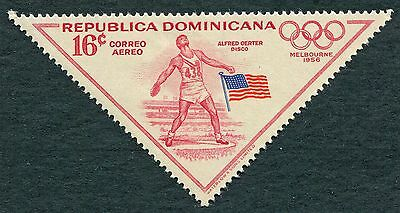 DOMINICAN REPUBLIC 1957 16c carmine-red SG720 MH FG Olympic Games Melbourne #W8