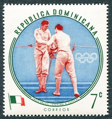 DOMINICAN REPUBLIC 1960 7c SG817 mint MH FG Olympic Games Melbourne #W8