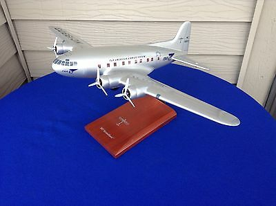 Boeing 307 Stratoliner Solid Mahogany 1:72 Scale Model Airplane Pan Am Very Nice