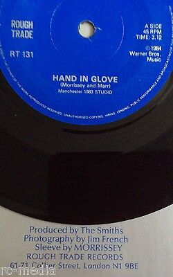 """The Smiths -Hand In Glove- Rare 'Sleeve By Morrissey' variation/Export 7"""" solid"""