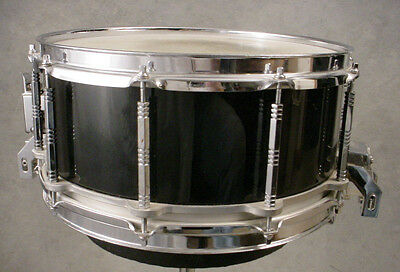 PEARL 6.5x14 FREE FLOATING BLACK MAPLE SHELL SNARE DRUM