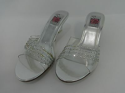 NEW Special Occasions by Saugus Shoe 610B Clear Size: 8 B