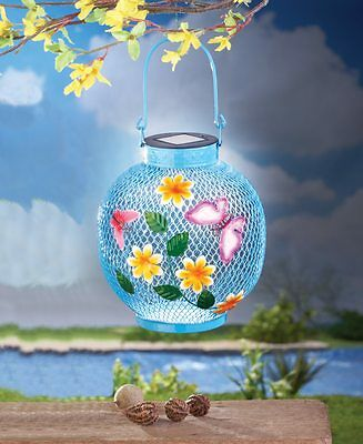 Solar Powered LED Lighted Butterfly Outdoor Garden Hanging/Tabletop Lantern