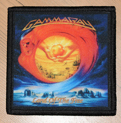 """GAMMA RAY """"LAND OF THE FREE"""" silk screen PATCH"""
