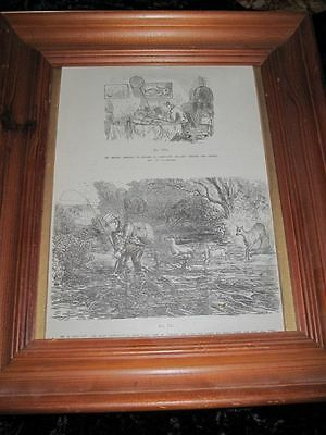 Vintage Print MR BRIGGS GOES ANGLING Punch 1851