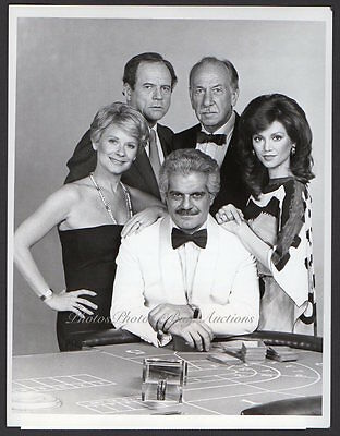OMAR SHARIF Victoria Principal HOPE LANGE '82 VINTAGE ORIG PHOTO Casino Gambler