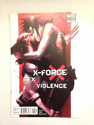 X-Force Sex and Violence 1 Second Printing variant wolverine domino HTF 2nd