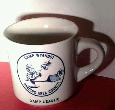 BSA Boy Scout MUG Coffee CUP CAMP Leader WYANDOT Harding Area Council MARION Oh