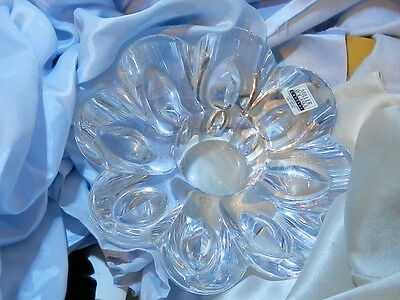 FAB Miller Rogaska Lead Crystal Vintage Wedding Winter Candle Holder B1J7