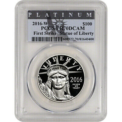2016-W American Platinum Eagle Proof (1 oz) $100 - PCGS PR70 DCAM - First Strike