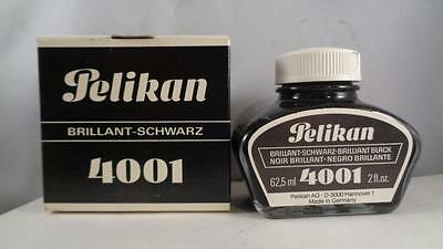 Ink Pelikan 4001 2 oz NOS BlLACK Glass Bottle &  Box