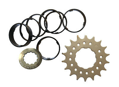 Conversion Kit Single Speed 12T - 20T Shimano Pattern 7-11 spd Mr Control Black