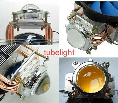 Heat Sink 3 copper pipe + Fan + 44mm Lens For 20W 50W 100W -150W High Power LED