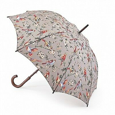 Cath Kidston Kensington Walking Umbrella - British Birds Grey