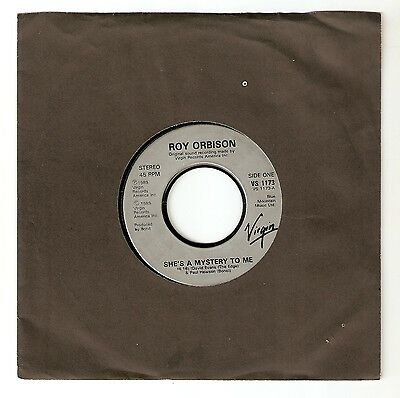 """Roy Orbison - She's a mystery to me  Bw Crying Duet with K D Lang 7"""" 1989 A1/B1"""