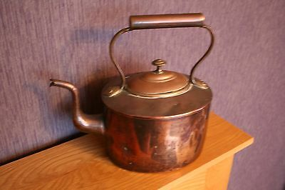 Oval Shaped Large Victorian Copper Kettle