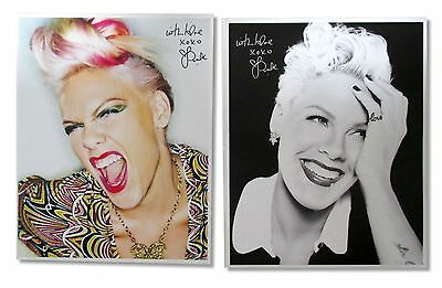 Pink P!nk 2 Piece Gift Set: 8 X 10 Photos New Official Band Music Truth Love