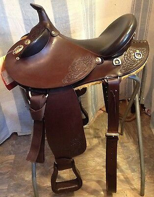"""18"""" Australian/Western Outback crossover trail saddle brown leather"""