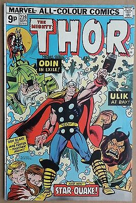 Marvel Comics: The Mighty Thor # 239, September 1975. Very good condition.