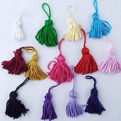 Small Mixed Colour Mini Craft Tassels 30mm to 35mm Rayon Shiney Key Costume Etc