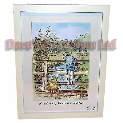 Winnie The Pooh Framed Picture - Disney Classic Collection - Poohsticks Sticks