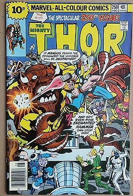 Marvel Comics: The Mighty Thor # 250 August 1976. Very good condition.