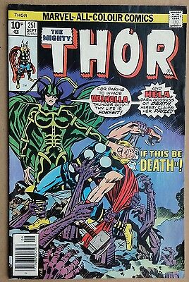 Marvel Comics: The Mighty Thor # 251 September 1976. Very good condition.