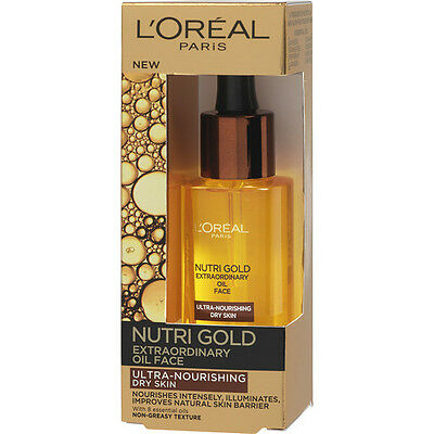 L'OREAL PARIS NUTRI GOLD extraordinary Regenerating Face Oil For Dry Skin  30ML