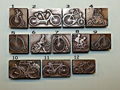 """BICYCLES"" Printing Blocks."