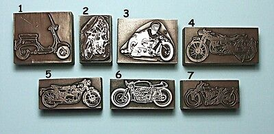 """MOTORCYCLES & SCOOTERS"" Printing Blocks."