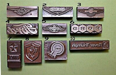 "24 ""CAR MASCOTS/BADGES/CLUBS"" Printing Blocks."