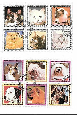 Equatorial Guinea- Animals / Birds / Butterflies & Flowers ( 5 Blocks Of 6 )