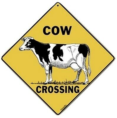"""COW Aluminum Crossing Sign, 12"""" on sides, 16"""" on diagonal"""