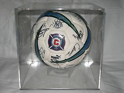 Chicago Fire Full Team Signed Soccer Ball From 2003 With Case & Coa Lqqk