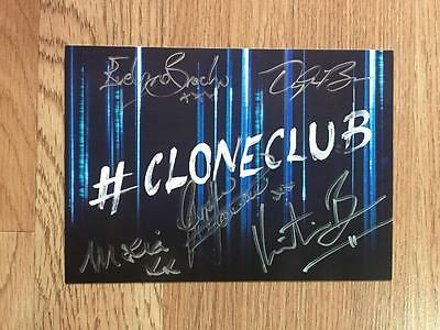 Orphan Black Signed Cast Promo Card 5X7 Wondercon 2015 Bbc