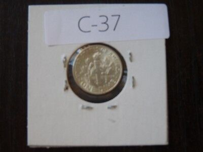 VINTAGE USA 1950 10 CENT SILVER Roosevelt VERY  HIGH QUALITY CAT VALUE 35.00 C37