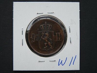 Vintage Coin Norway 1876  5 Ore Cat Value 12.00   W11