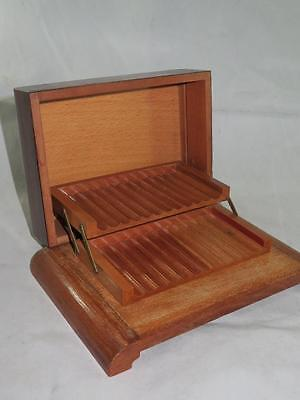 VINTAGE WOODEN CIGARETTE DISPENSER BOX Intricate Detailed Inlay