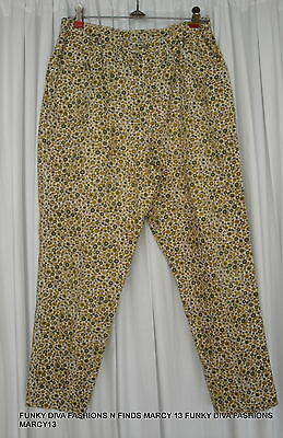 """Cute Vintage 50's 60's Trail King Gold Floral Western Style Jeans Waist 29"""""""