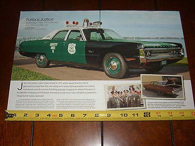 1971 Plymouth Nypd New York City Police Car - Original 2014 Article