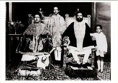 H.I.M. Emperor Haile Selassie I of Ethiopia and Family in 1920s Modern Postcard