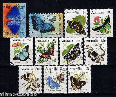 Nice Selection Of Australia Butterflies  Used   (1607196)