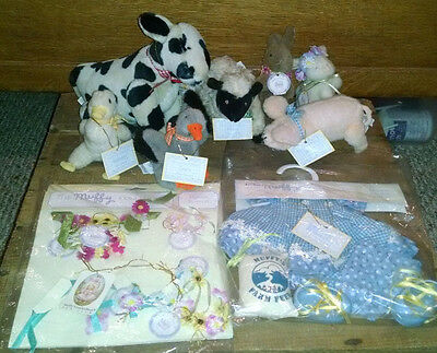 Muffy Vanderbear Down on the Farm- Outfit, Cow, Goose, Duck, Lamb, Pig, Rabbits