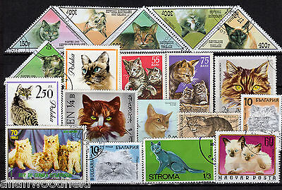 Nice Selection Of Cats Stamps   Used   (1607035)