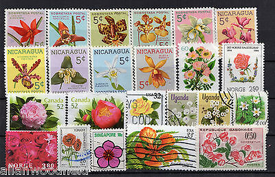 Nice Selection Of Flowers Stamps   Used   (1607033)
