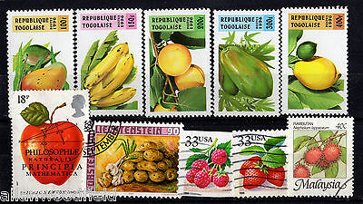 Nice Selection Of Fruits Stamps   Mint & Used   (1607036)