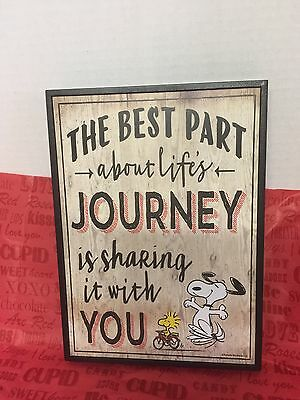 Peanuts Snoopy Wall Plaque Valentine Gift Best Part Of Life Is Sharing With You