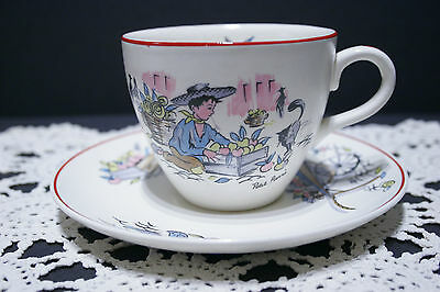 Rare! LOT of 5 Crown Ducal Petit Pierre Cup and Saucer SETS, Kitsch 1950's MINT