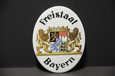 """FREISTAAT BAYERN Ceramic 15cm / 6"""" Wall Plaque Plate Hanging  7970"""