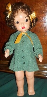 Terri Lee Painted Plastic Girl Scout 1950's New Wig